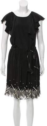 Anna Sui Embroidered Silk Dress