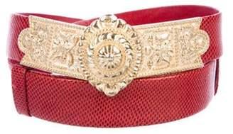 Judith Leiber Karung Waist Belt gold Karung Waist Belt
