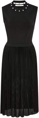 Givenchy Pearl-Embellished Stretch-Knit Midi Dress