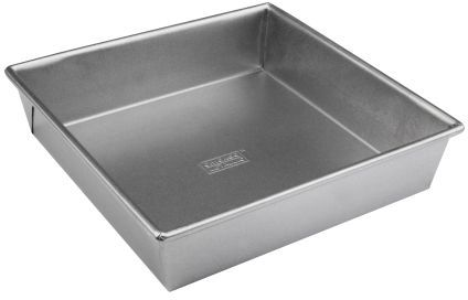 "Chicago Metallic Commercial II Square Cake Pan, 9"" x 2"""