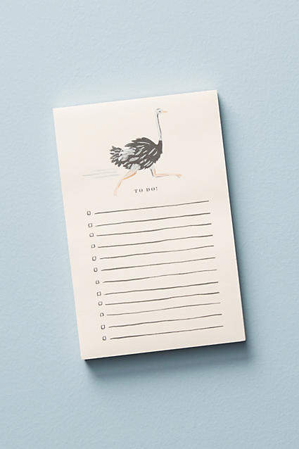 Rifle Paper Co. Ostrich Notepad