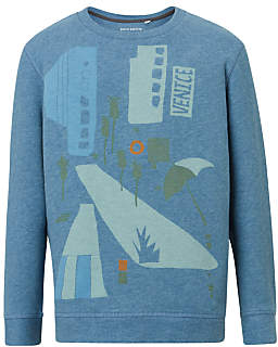 Boys' Printed Sweatshirt, Blue