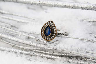 Sultana Sultanesque Silver Sapphire Blue Ring