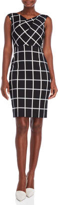 Karen Millen Graphic Check Sheath Dress