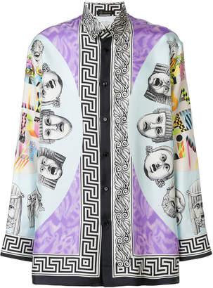 Versace patterned longline shirt