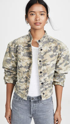 Marissa Webb Flynn Heavy Canvas Camo Jacket