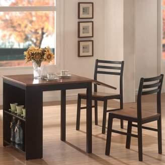 Coaster 3-Piece Breakfast Dining Set with Storage, Chestnut/Black