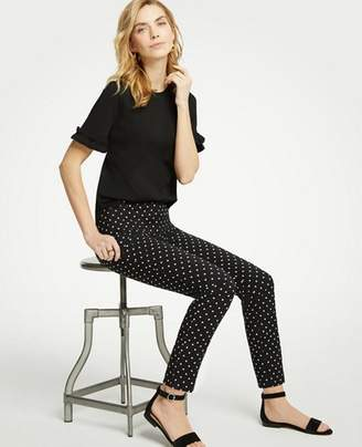 Ann Taylor The Petite Ankle Pant In Polka Dot