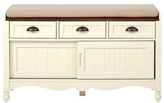 Home Decorators Collection Southport Storage Brown Ivory Bench