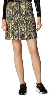 Karen Millen Snakeskin-Print Skirt