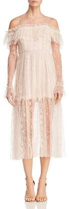 Alice McCall Way You Are Cold-Shoulder Lace Dress