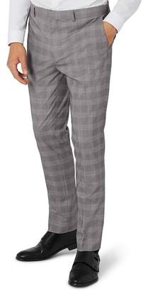 Topman Skinny Checked Suit Trousers
