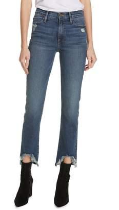 Frame Le High Straight Curve Hem Jeans