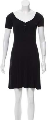 L'Agence Rib Knit A-Line Dress