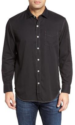 Men's Tommy Bahama Still Twillin Standard Fit Sport Shirt $98 thestylecure.com