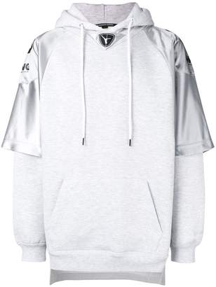 Alexander Wang football jersey hybrid hoodie