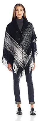 Collection XIIX Women's Boucle Border Ruana with Closure $68 thestylecure.com