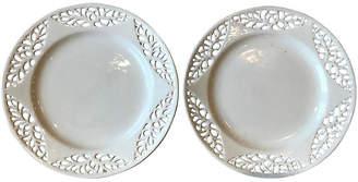 One Kings Lane Vintage Swedish Creamware Plates - Set of 2 - Heather Cook Antiques
