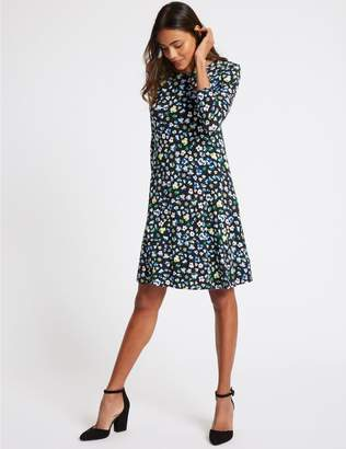 Marks and Spencer Floral Print 3/4 Sleeve Swing Dress