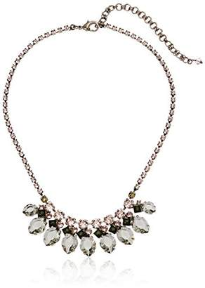 Sorrelli Army Girl Navette Crystal Fan Necklace