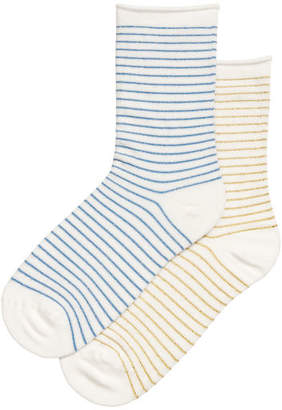 H&M 2-pack fine-knit socks - Blue