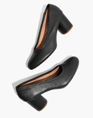Madewell The Reid Pump in Leather