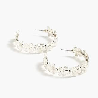 J.Crew Pansy hoop earrings