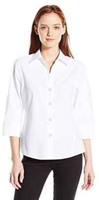 Foxcroft Women's Petite 3/4 Sleeve Paige Non Iron Shirt