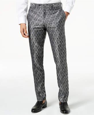 Tallia Orange Men's Modern-Fit Black Medallion Suit Pants