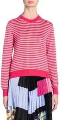 Marni Geometric Cotton Knit Sweater