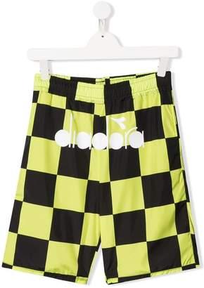 Diadora Junior checkered shorts