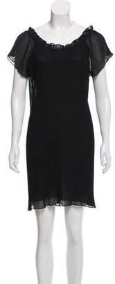 Joie Pleated Short-Sleeve Dress