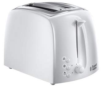 Russell Hobbs White 'Textures' Toaster 21640