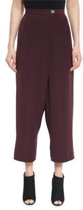 McQ Alexander McQueen Cropped Overlap Pants, Port $415 thestylecure.com