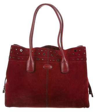 Tod's Suede Studded Bag