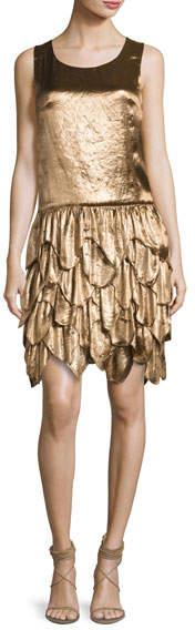 Ralph Lauren Collection Dara Tiered Sleeveless Dress, Bronze