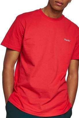 Topman Short Sleeve Thanks Logo T-Shirt