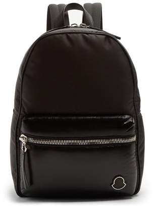 Moncler Logo Applique Backpack - Mens - Black