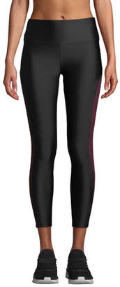 Lanston Cliff Side Block Mesh High-Rise Performance Leggings
