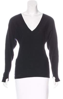 Ramy Brook Leather-Accented Wool Sweater