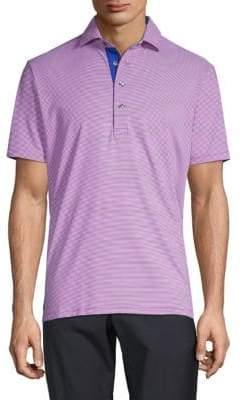 Striped Short-Sleeve Polo