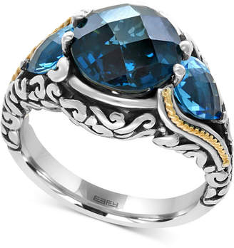 Effy Ocean Bleu by Blue Topaz (7 ct. t.w.) Ring in Sterling Silver and 18k Gold-Plate