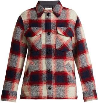 Etoile Isabel Marant Gast checked wool-blend jacket