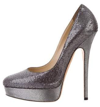 Jimmy Choo Glitter Platform Pumps