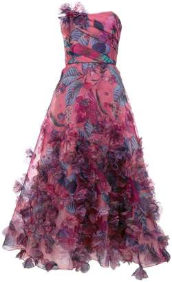 c6ee8ebb Marchesa floral print strapless ball gown