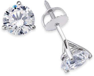1db3b1f38 Macy's Certified Near Colorless Diamond 3-Prong Stud Earrings (1-1/2