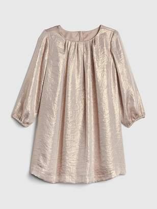 Gap Metallic Shimmer Long Sleeve Dress