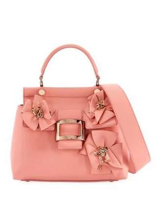 Roger Vivier Viv Flower Patch Cabas Mini Satchel Bag