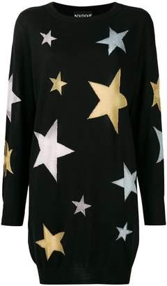 Moschino star intarsia knit dress