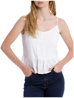 Miss Shop Tie Back Linen Blend Cami